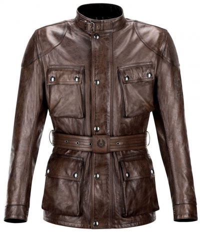 BELSTAFF CTT LEATHER BLACK BROWN